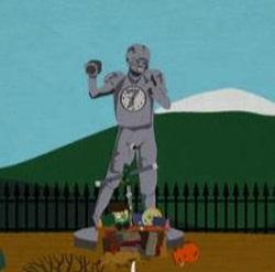 Estátua de John Elway South Park