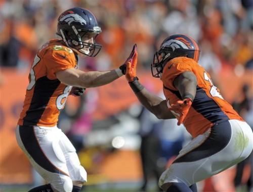 Wes Welker, Knowshon Moreno, destaques do Denver Broncos