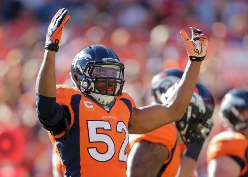 Wesley Woodyard no jogo do Denver Broncos contra o Washington