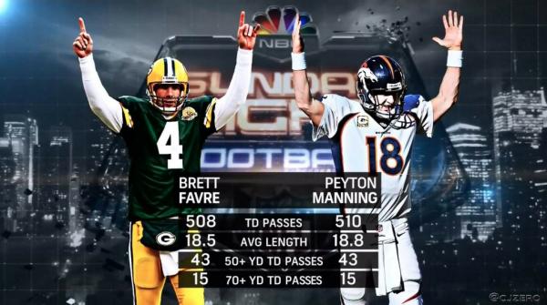 Favre, Manning e sua importância para o Denver Broncos